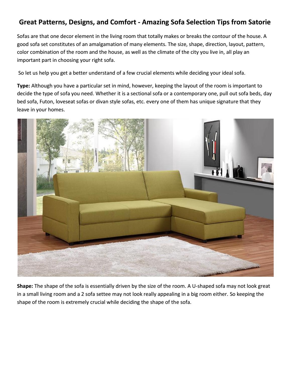 Remarkable Amazing Sofa Selection Tips From Satorie By Satorie Issuu Lamtechconsult Wood Chair Design Ideas Lamtechconsultcom