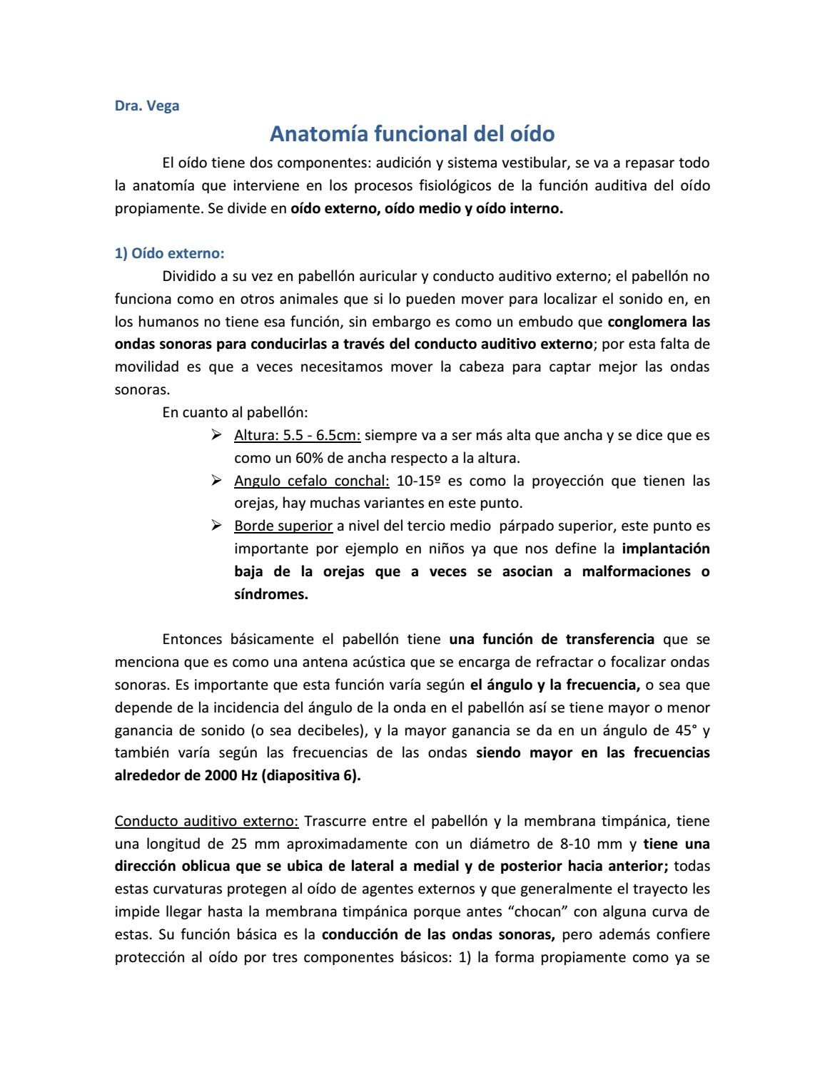 Anatomía funcional del oído by Guadalupe - issuu