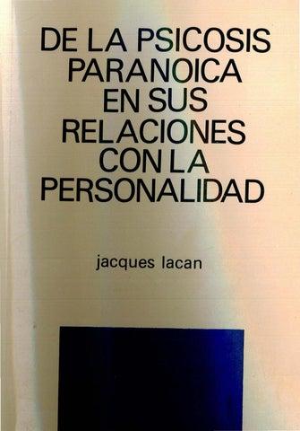 77f885bca79197 De la psicosis paranoica en sus relaciones con la personalidad %5bjacques  lacan%5d %281%29