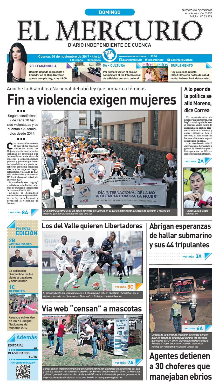 hemeroteca 26-11-2017 by Diario El Mercurio Cuenca - issuu 48e73c97392