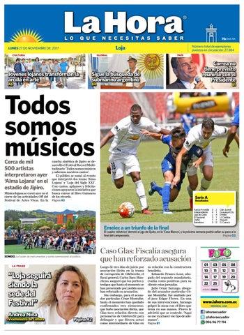 eef8d70595 Diario La Hora Loja 27 de Noviembre 2017 by Diario La Hora Ecuador ...