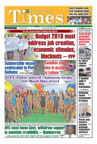 Guyana Times 27 November 2017 by Gytimes - issuu