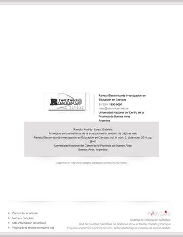 Revista electronica analogias en quimica estequiometria by ...