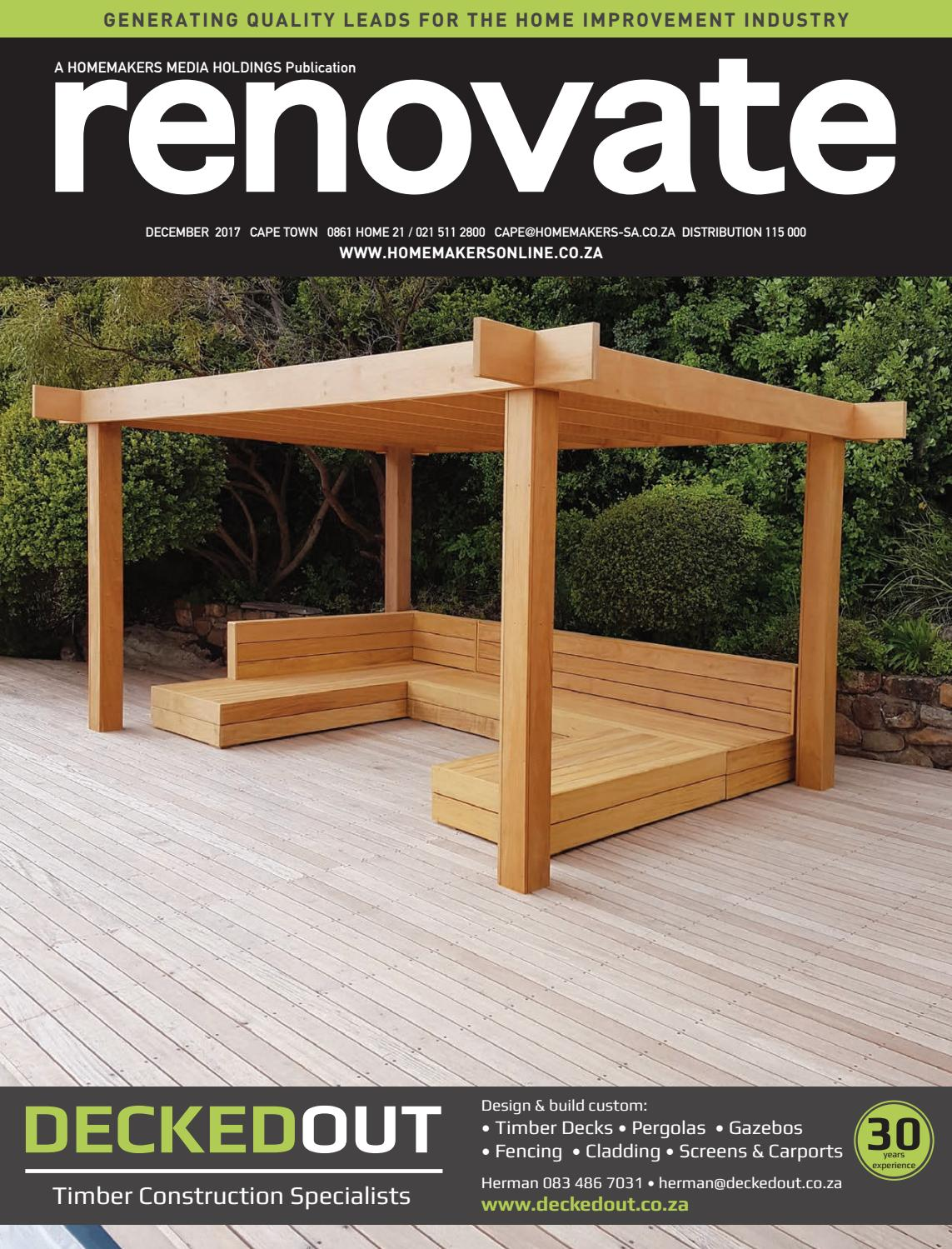 Renovate Cape Town December 2017 By Homemakers Issuu