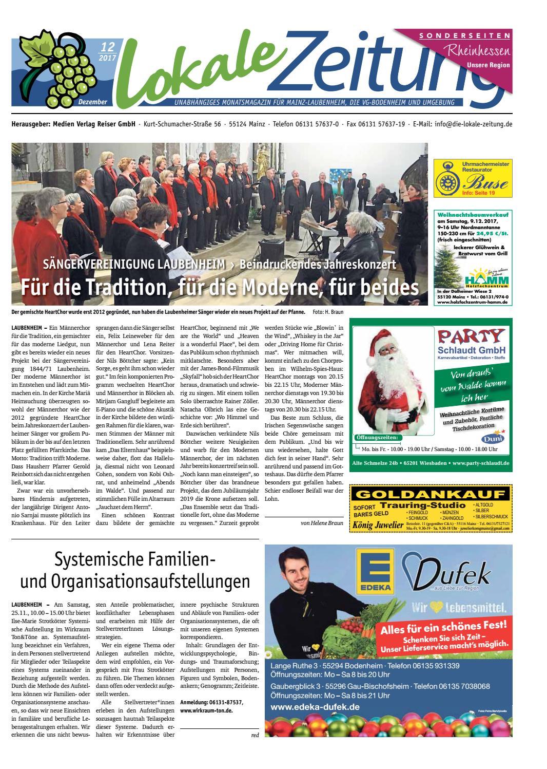 1595b3d56f15f3 Lokale Zeitung Laubenheim VG Bodenheim Dezember 2017 by David Weiß - issuu