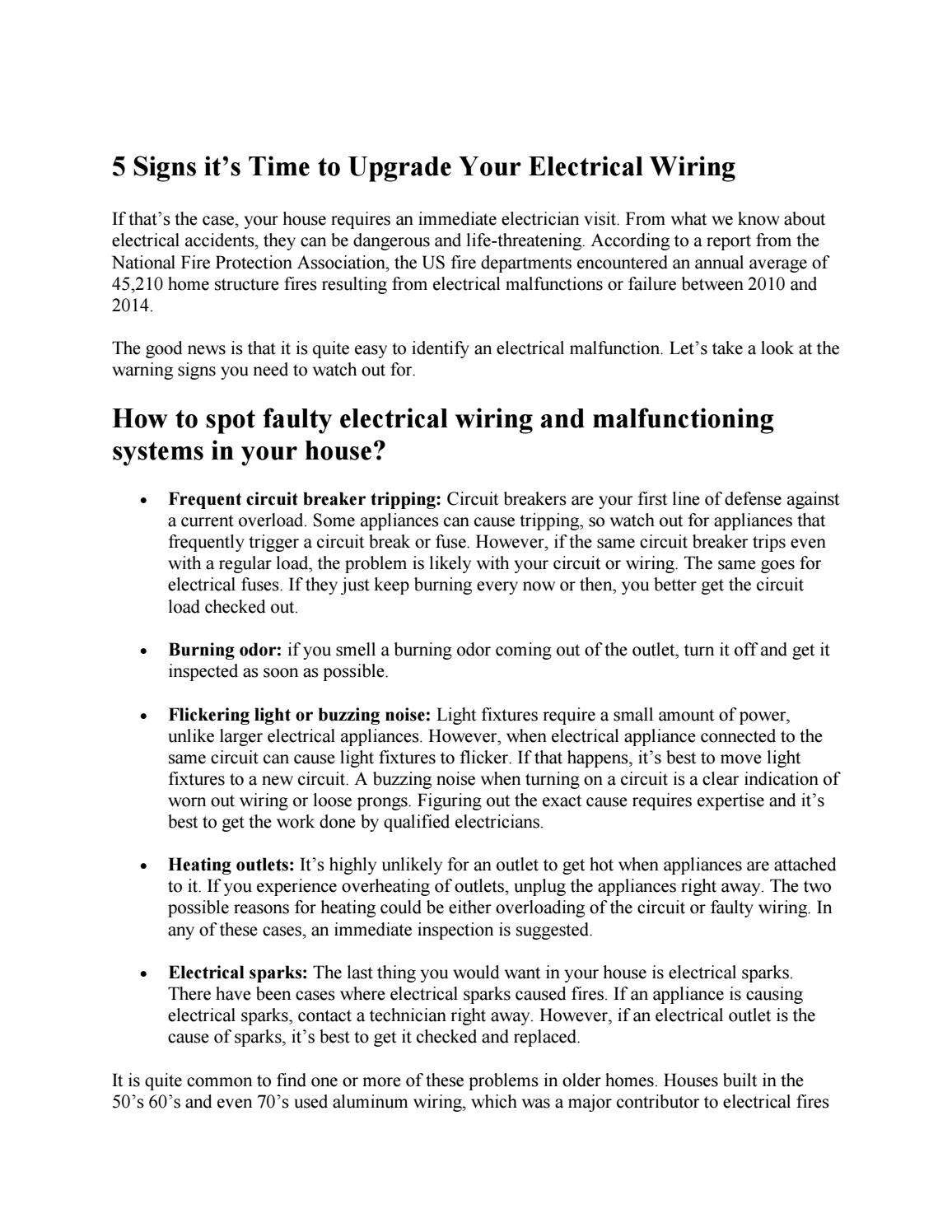 5 signs it's time to upgrade your electrical wiring by ... on