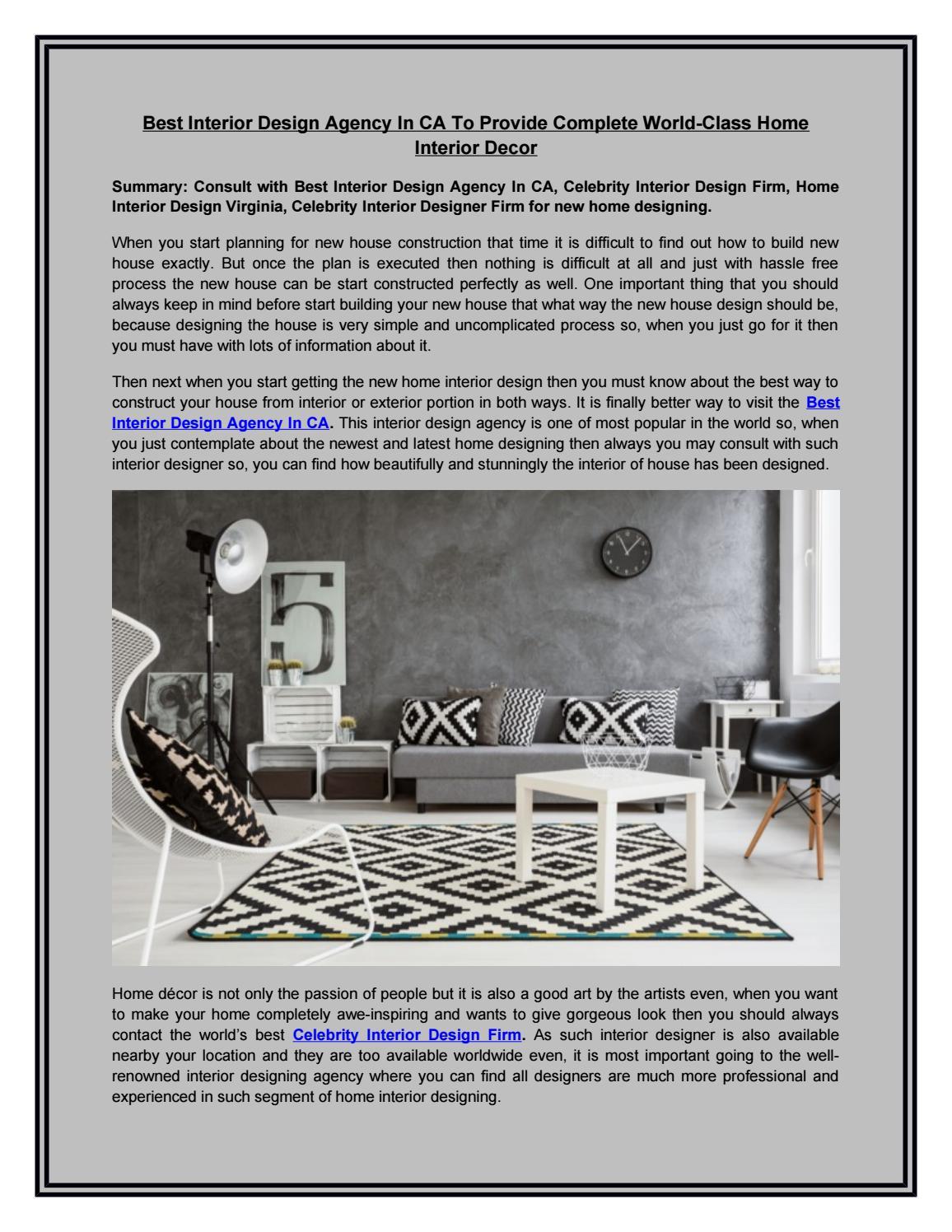 Interior Design Agency In CA | Celebrity Interior Design