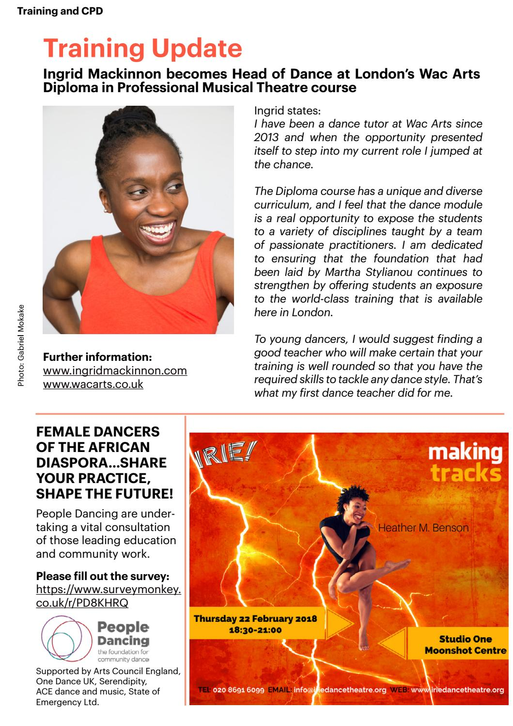 HOTFOOT Online   Autumn 2017 Transmitting the Dance: Principles, Aesthetic,  Technique and Nuance