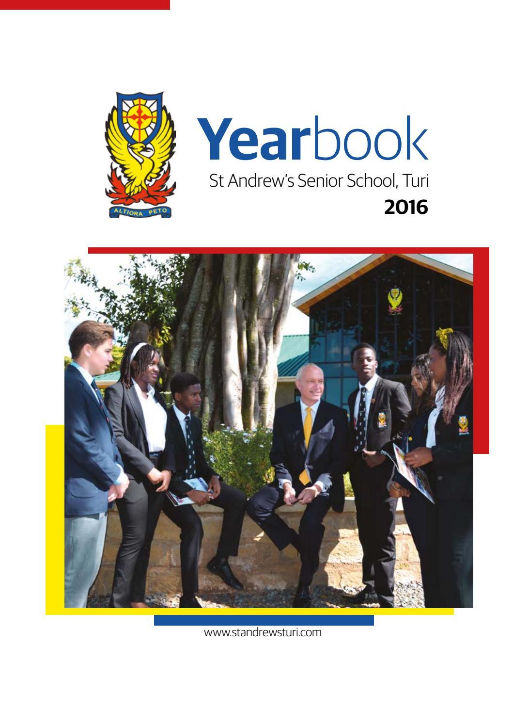 2016 17 st andrews senior school turi year book by St Andrew\'s ...