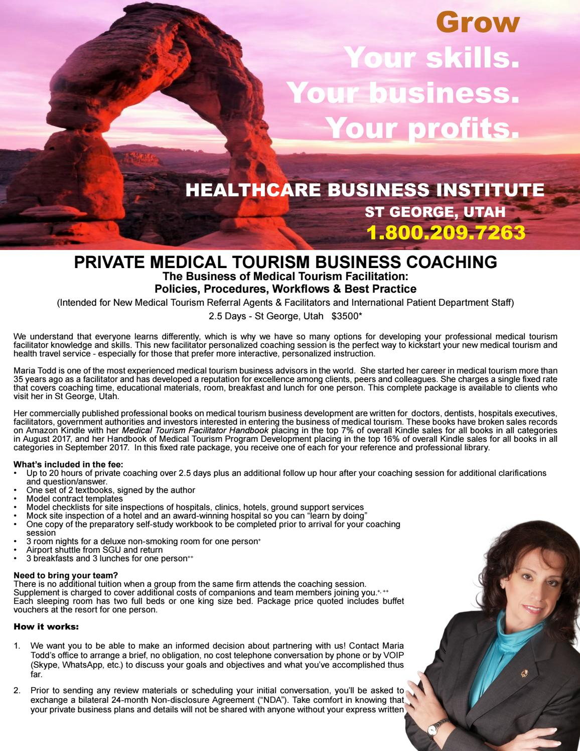 Private medical tourism startup coaching by maria todd mha phd issuu ccuart Gallery