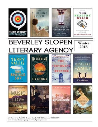 Winter 2018 By Beverley Slopen Literary Agency Issuu