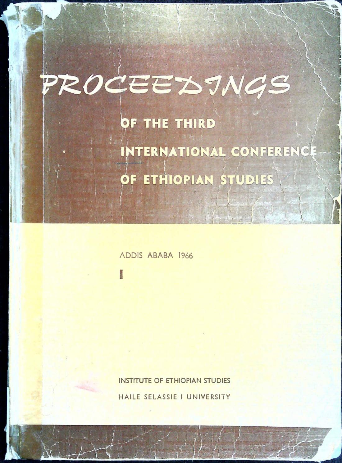 Proceedings of the Third International Conference of