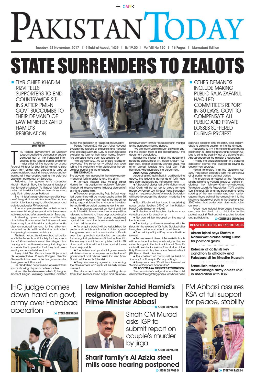 E paper pdf 28th november (isb) by Pakistan Today - issuu