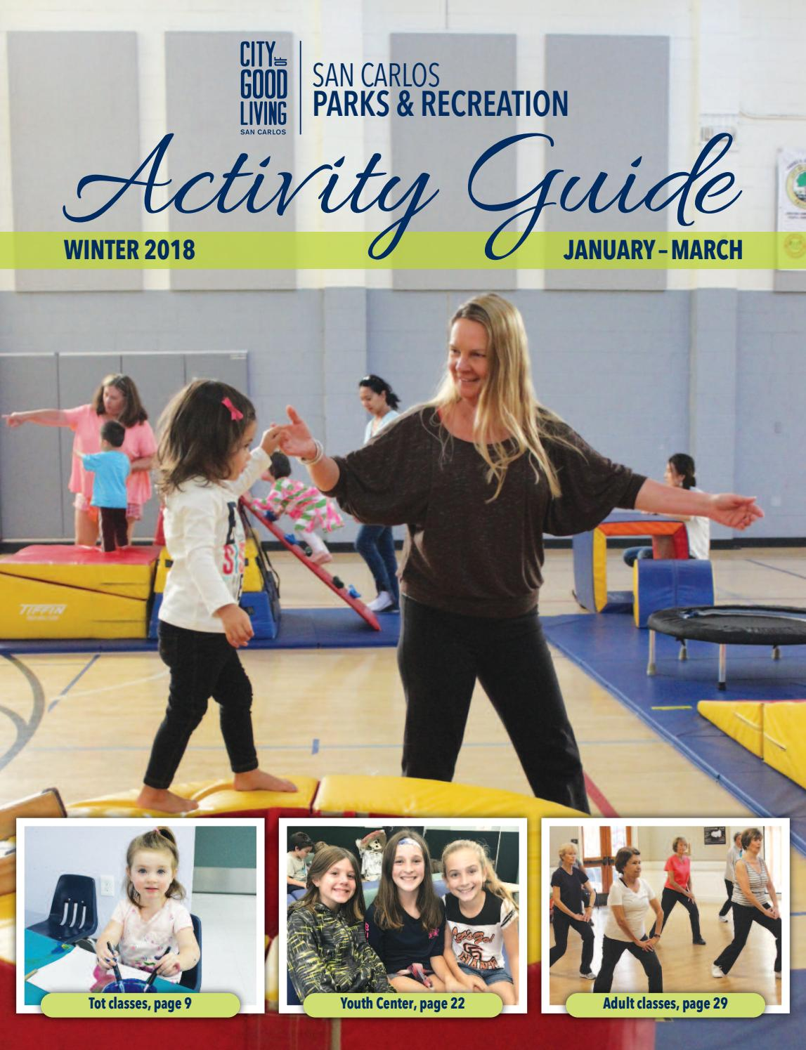 San Carlos Winter 2018 Activity Guide by San Carlos Parks and Recreation -  issuu