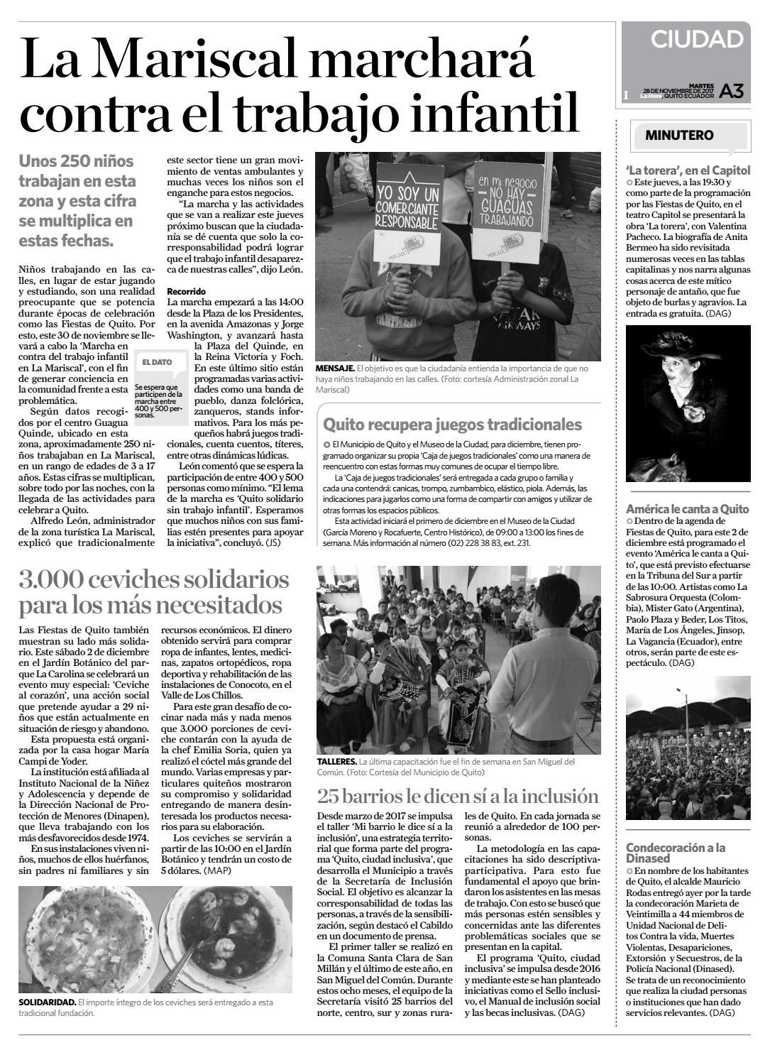 Quito 28 Noviembre De 2017 By Diario La Hora Ecuador Issuu
