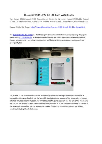 Huawei E5186s-22a 4G LTE Cat6 WiFi Router by Lte Mall - issuu