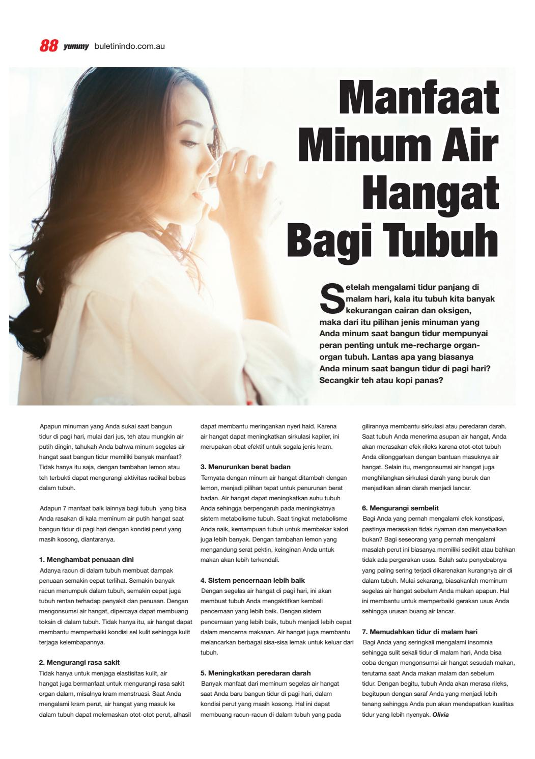 26 Manfaat Sering Minum Air Hangat Background Content