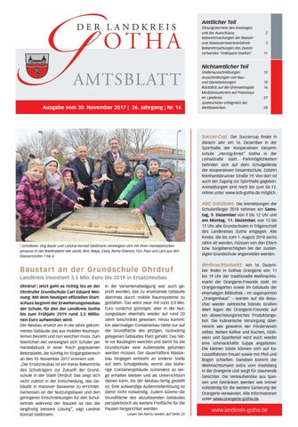 Amtsblatt des Landkreises Gotha Nr 16 2017 vom 30 11 2017 by