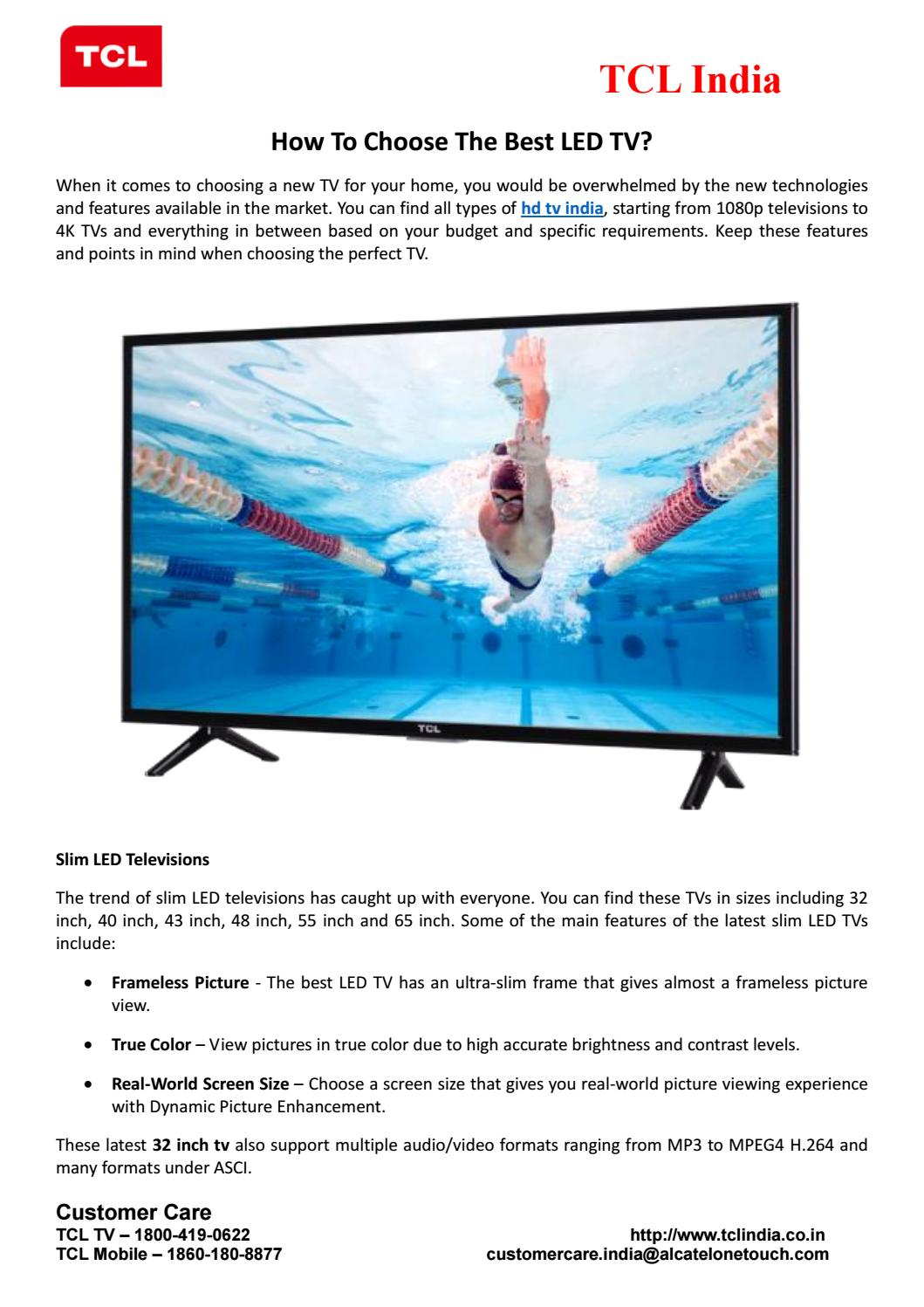 How To Choose The Best LED TV? by Tanjni Pache - issuu