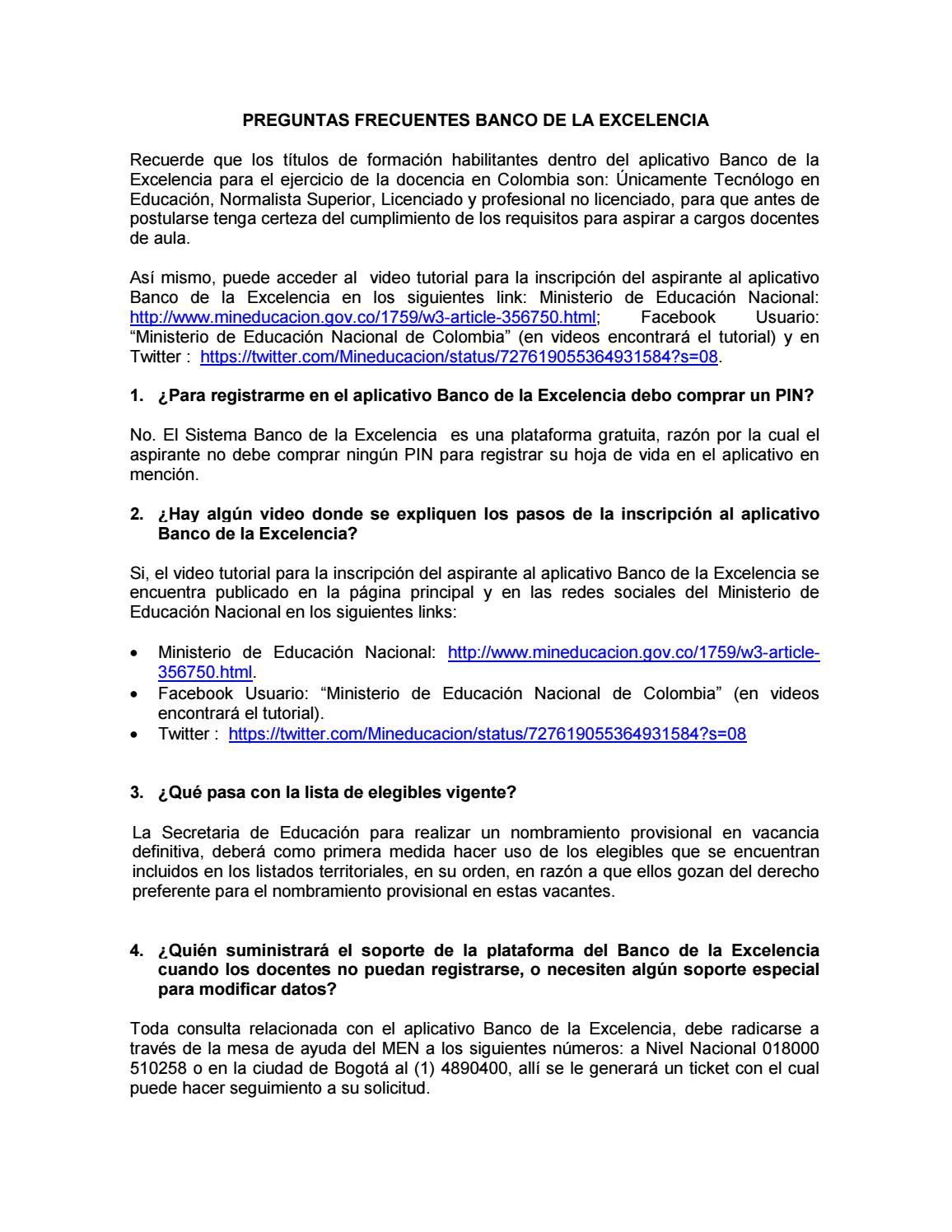 Faqs banco excelencia by MAGNIFIC ART - issuu