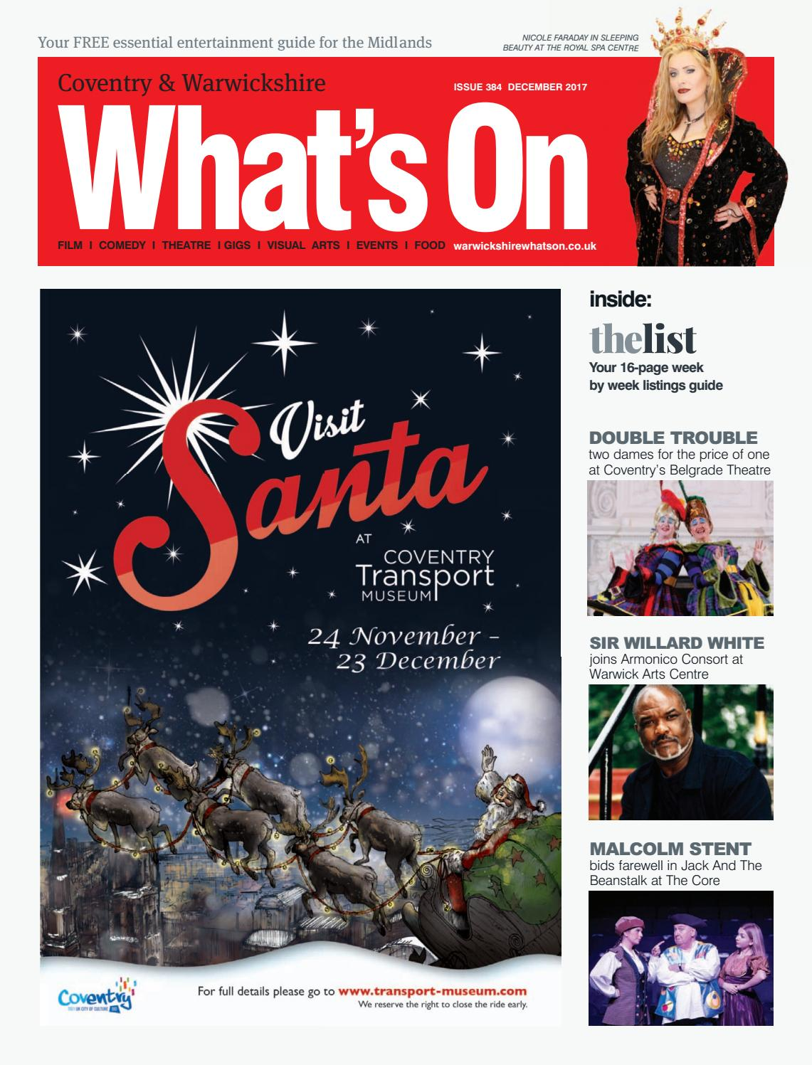 Coventry & Warwickshire What's On December 2017