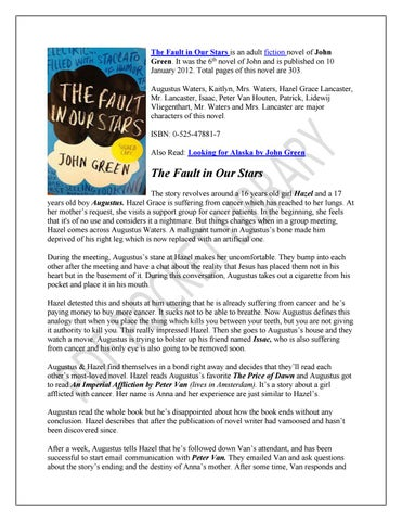 The Fault In Our Stars Full Novel Pdf