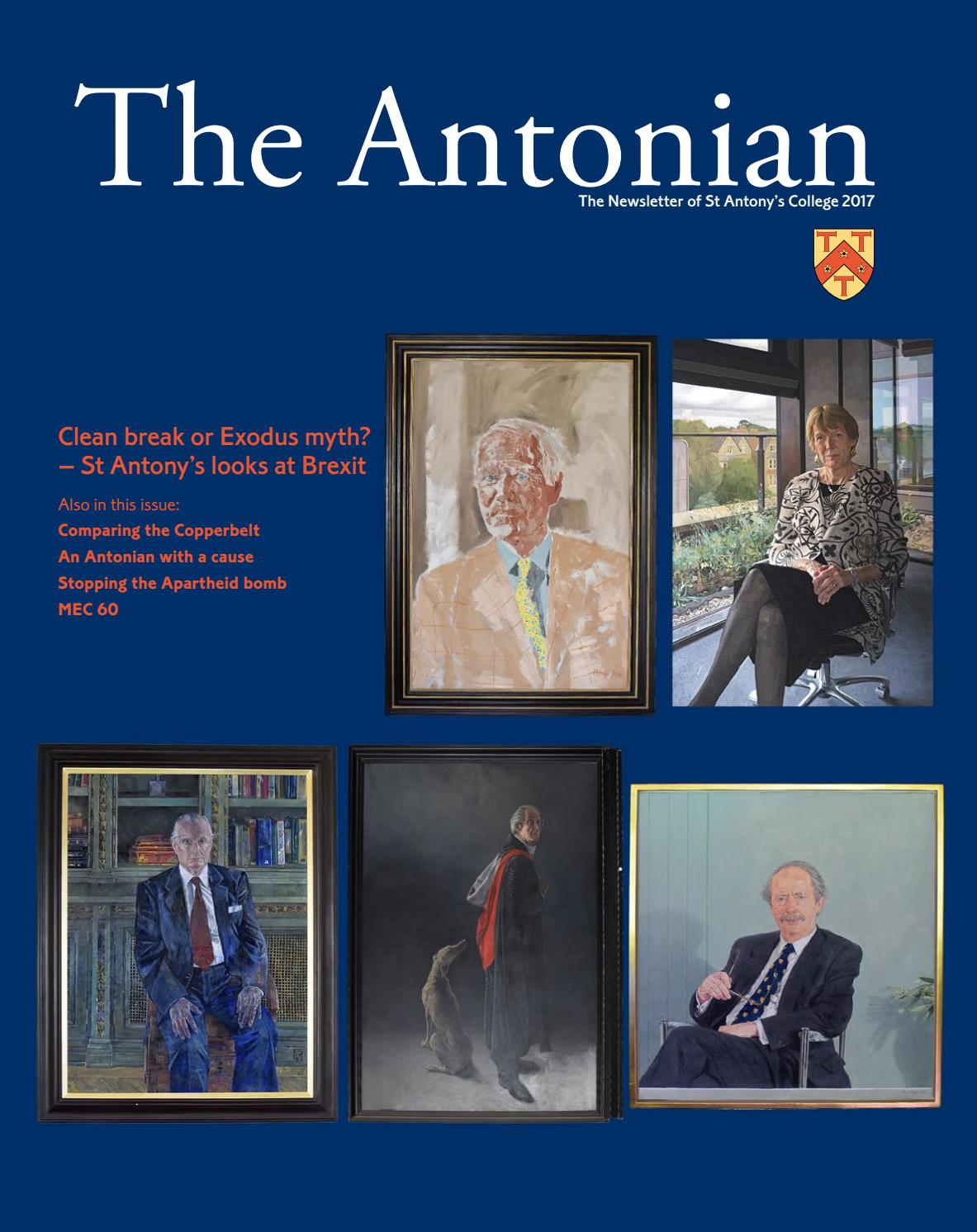 The Antonian Newsletter 2017 by St Antony s College - issuu 3f382a3a7a0a