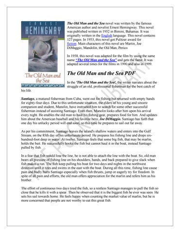 Old and pdf the sea hemingway man the