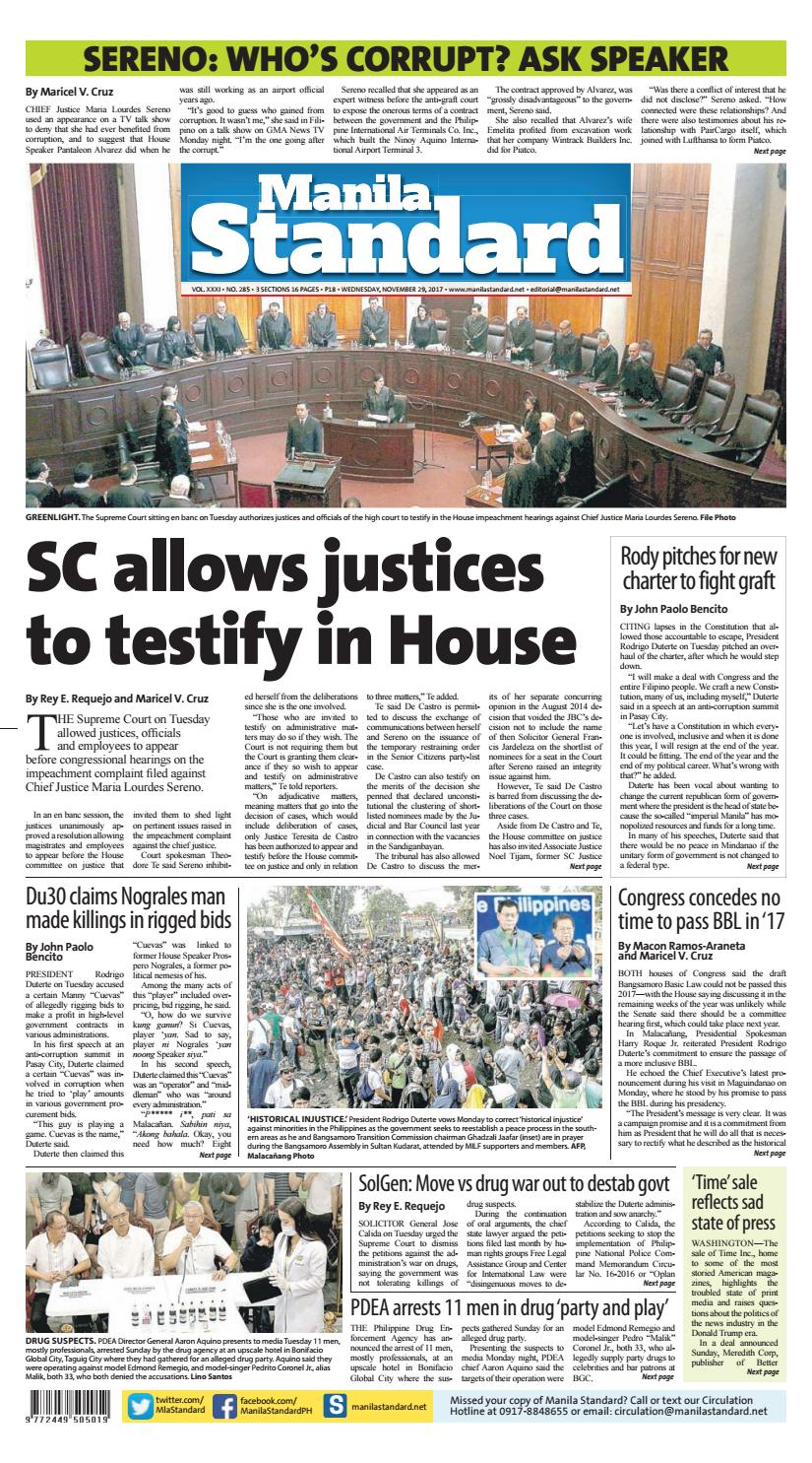 919215c43f2fe3 Manila Standard - 2017 November 29 - Wednesday by Manila Standard - issuu