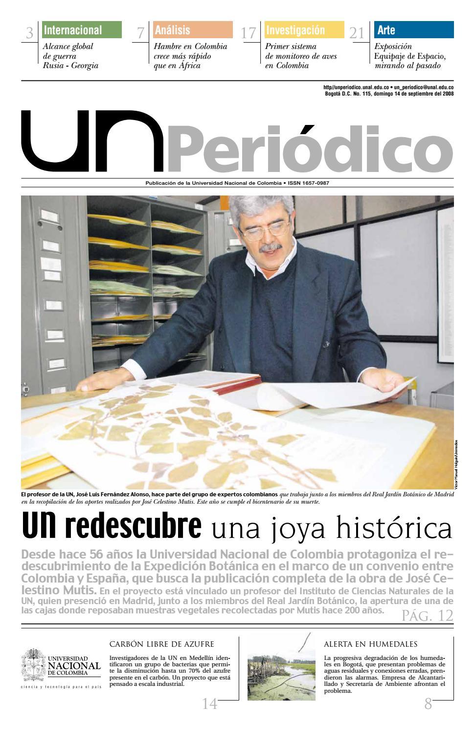 UN Periódico No. 115 by Unimedios - Universidad Nacional de Colombia ...
