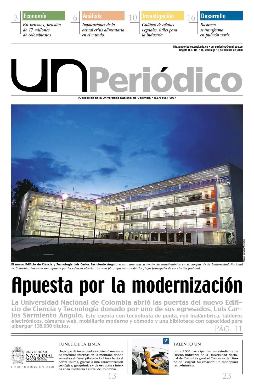 UN Periódico No. 116 by Unimedios - Universidad Nacional de Colombia ...