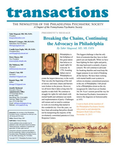 Fall transactions newsletter2017 by SSMS - issuu