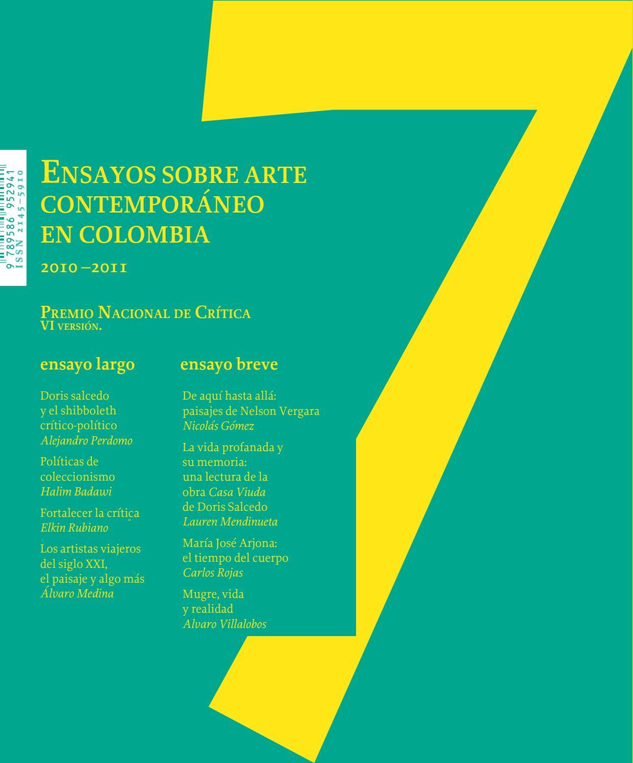 afce1c7376c Premio Nacional de Crítica   7 by Artes Visuales Mincultura - issuu