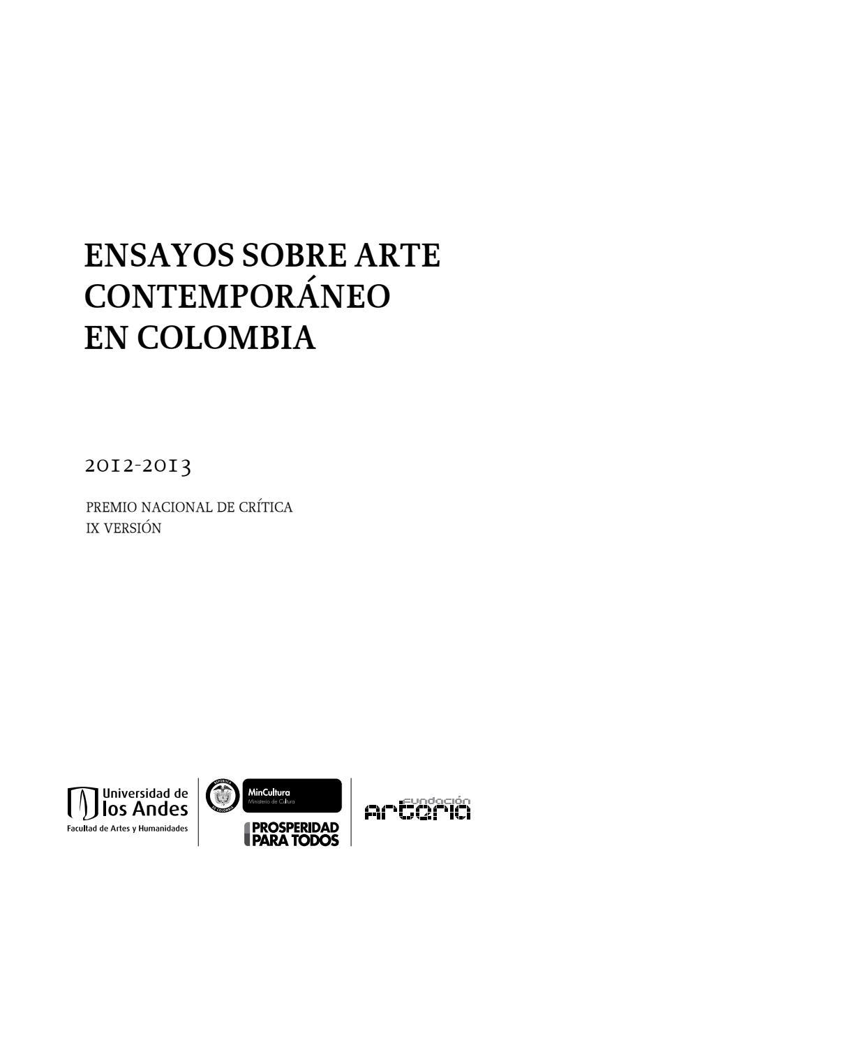 Premio Nacional de Crítica # 9 by Artes Visuales Mincultura - issuu