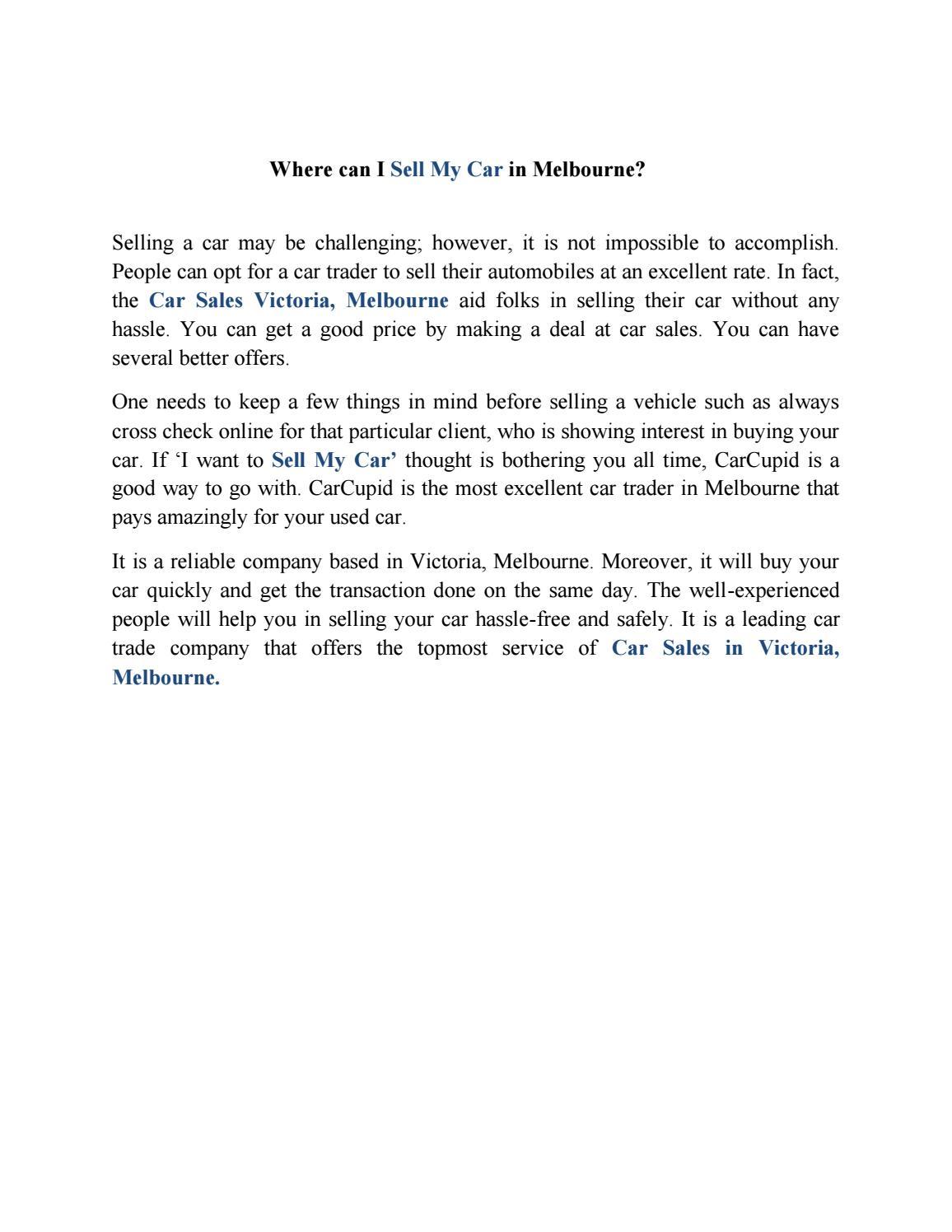 Carcupid document sharing car sales victoria by carcupid - issuu