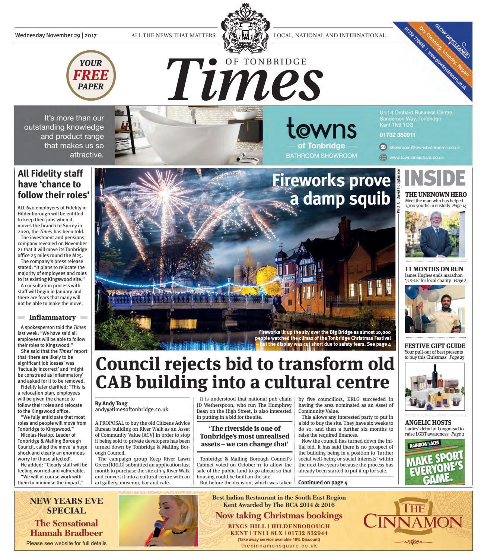 d38279bba1a3 Times of Tonbridge 29th November 2017 by One Media - issuu
