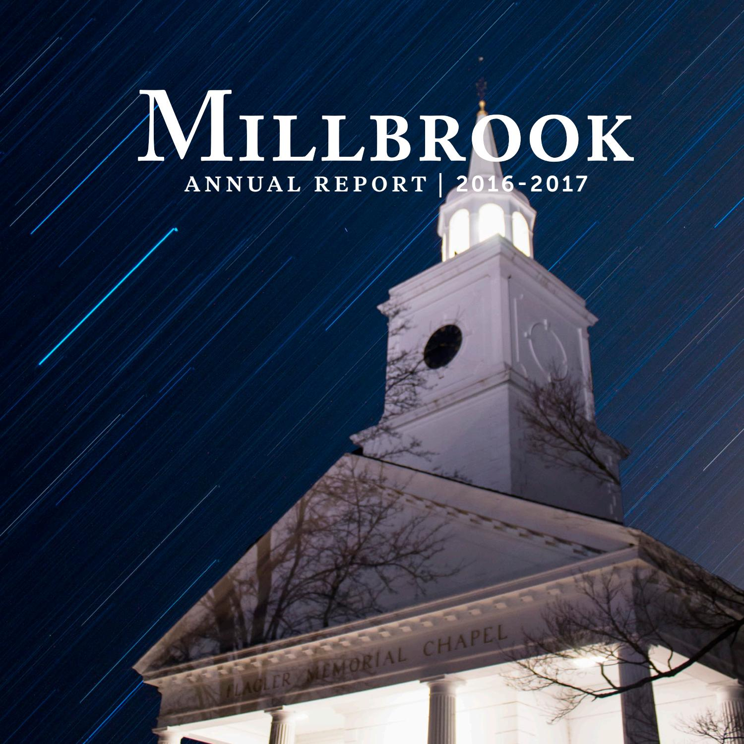 Annual Report/Magazine, Fall 2017 by Millbrook School - issuu