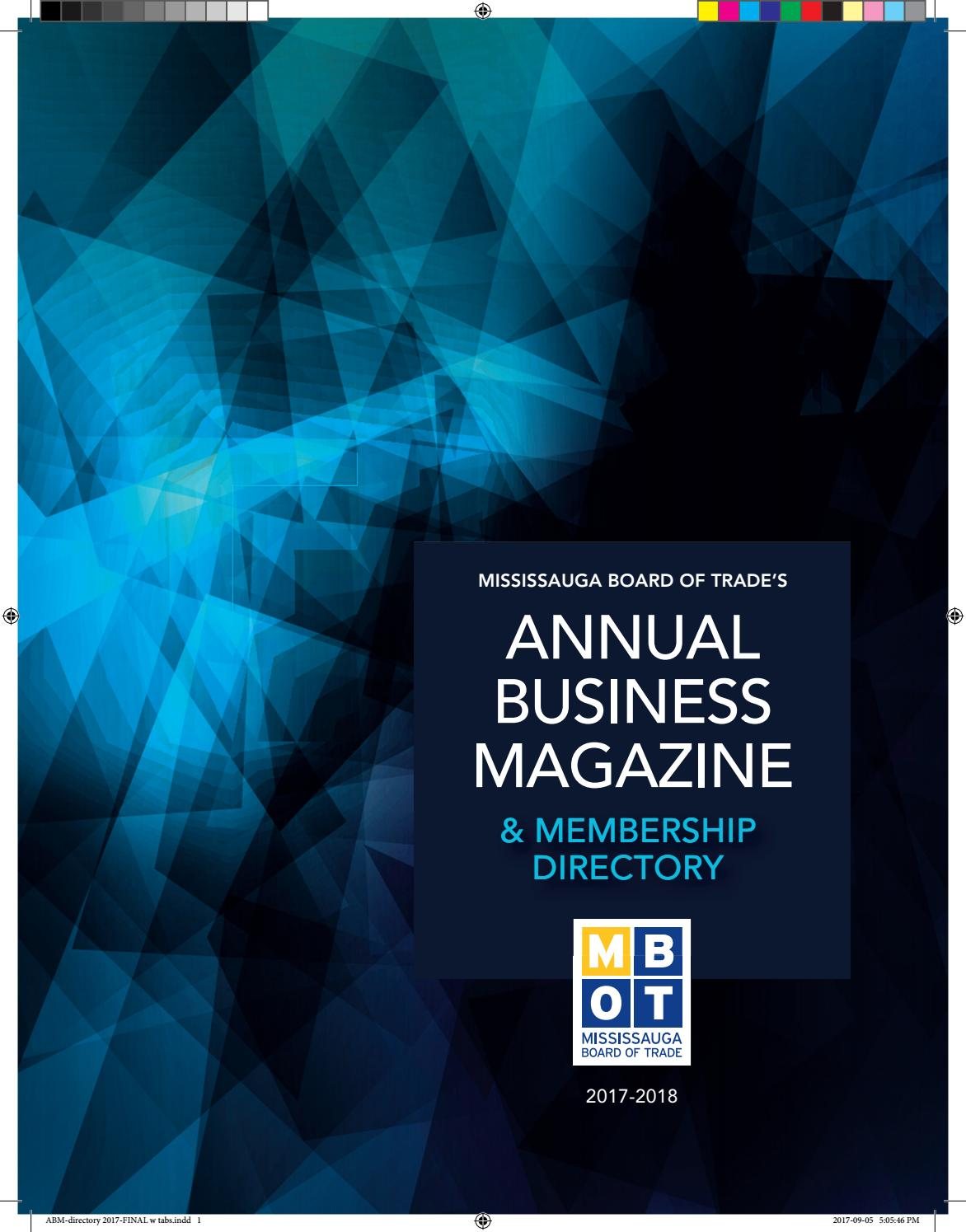 Annual Business Magazine 2017 by Mississauga Board of Trade