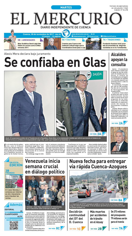 hemeroteca 28-11-2017 by Diario El Mercurio Cuenca - issuu afd677e85f5