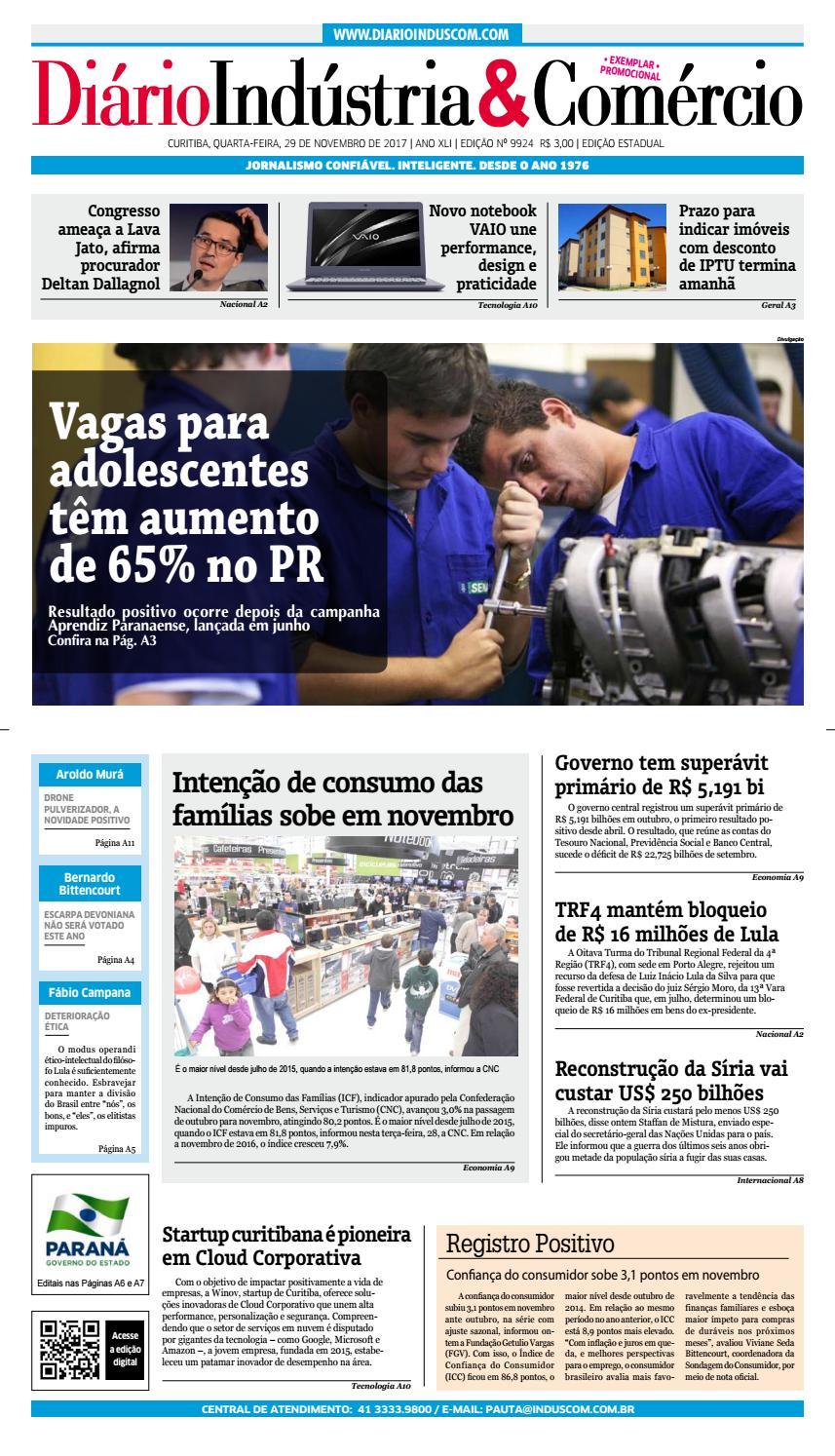 bdf971c6def Diário Indústria Comércio - 29-11-2017 by Diário Indústria   Comércio -  issuu