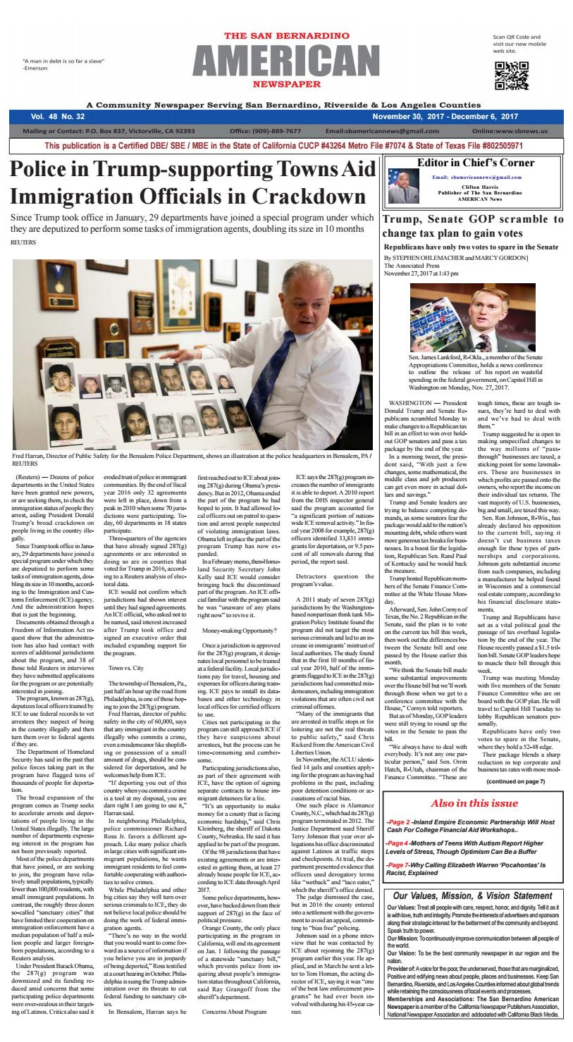 The San Bernardino American News By San Bernardino American News Issuu