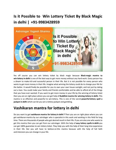 Is it Possible to Win Lottery Ticket By Black Magic in delhi | +91