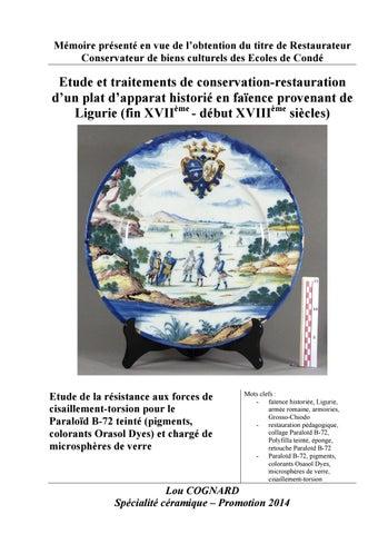 Lou COGNARD-Conservation-restauration d un plat d apparat historié ... 0cfd940fdff