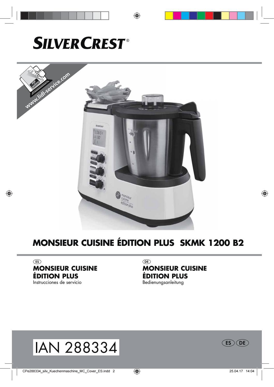 Manual robot cocina lidl by ofertas supermercados issuu - Robot de cocina monsieur cuisine plus ...
