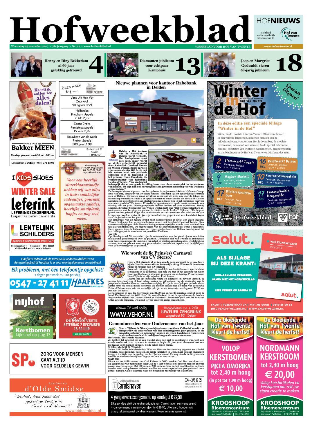 ed91c8f1ad2 Hofweekblad week 48 17 by Regionale Uitgeversgroep - issuu