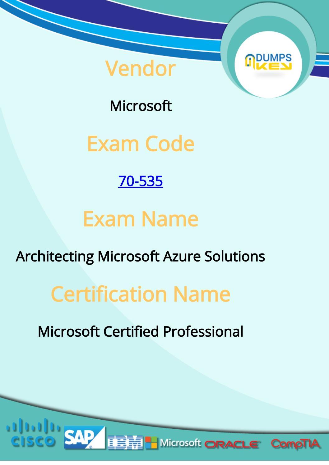 Microsoft 70 535 exam dumps by dumps questions 2017 issuu xflitez Choice Image