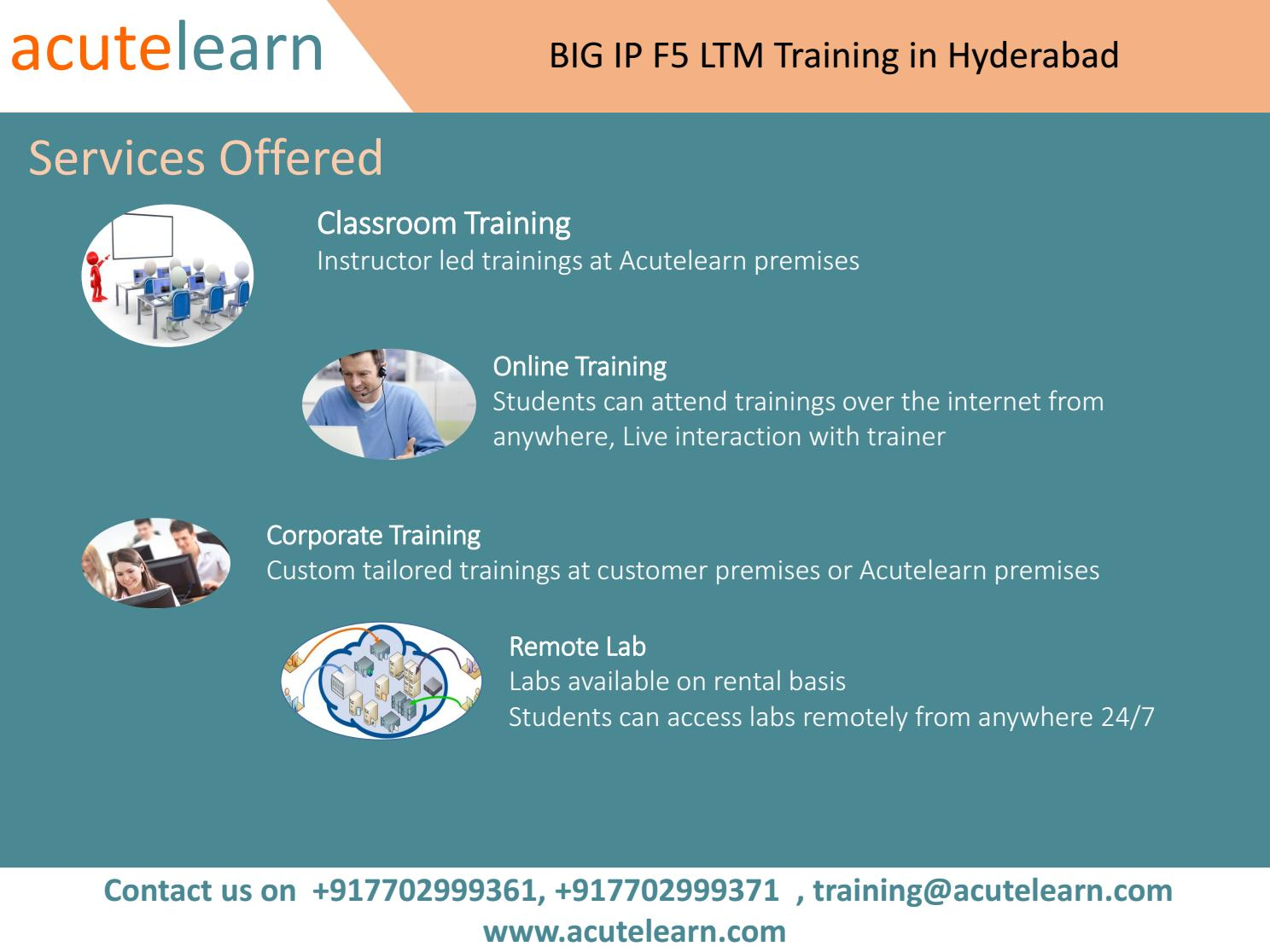 BIG IP F5 LTM Training | BIG IP F5 LTM Training in Hyderabad