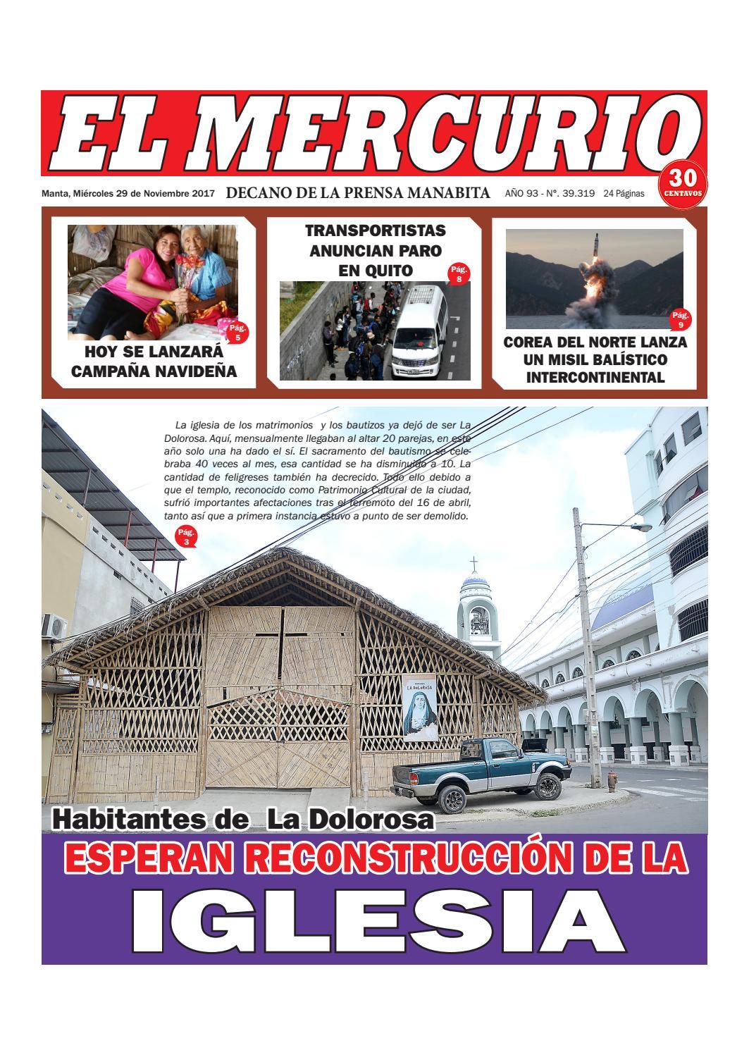 MIERCOLES 29 DE NOVIEMBRE 2017 by Diario El mercurio - issuu