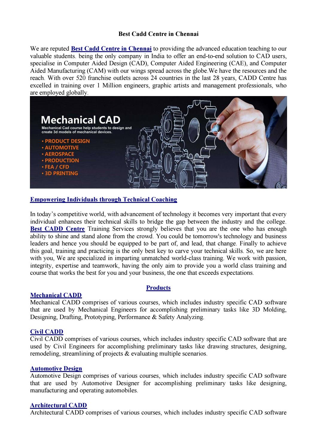 Best Cadd Centre In Chennai By Justseemobileapp Issuu