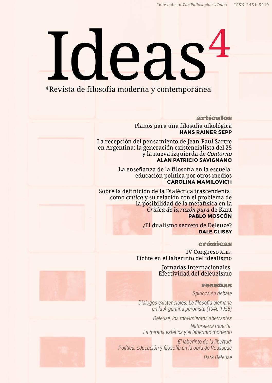 Ideas Revista De Filosofia Moderna Y Contemporanea Numero 4 By Ideas Revista De Filosofia Moderna Y Contemporanea Issuu